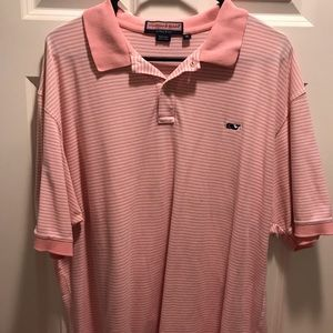 Vineyard Vines - White and Pink Striped - XL